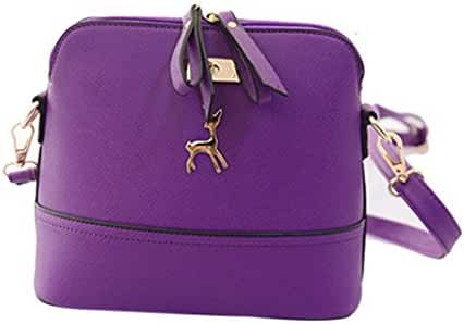 Small Shoulder Bags,Hemlock Women Girls Purse Handbag Wallet Zipper Handbag (Purple)